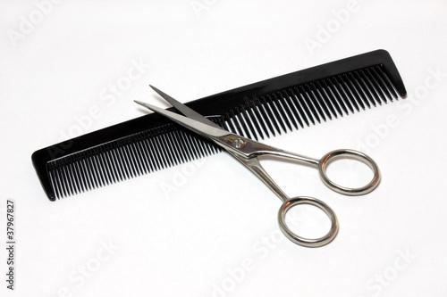 Leinwandbild Motiv Scissors and Comb