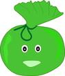 sac poubelle vert pour déchets végétaux
