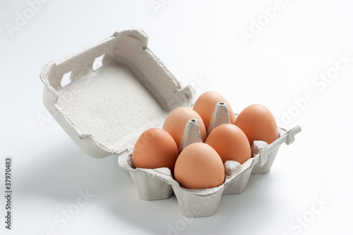 Egg box filled