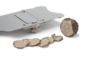 Black winter truffle and slicer