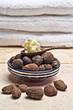 Still life of Shea nuts