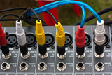 Audio jacks and audio mixing table
