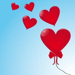 Herzballons Himmel