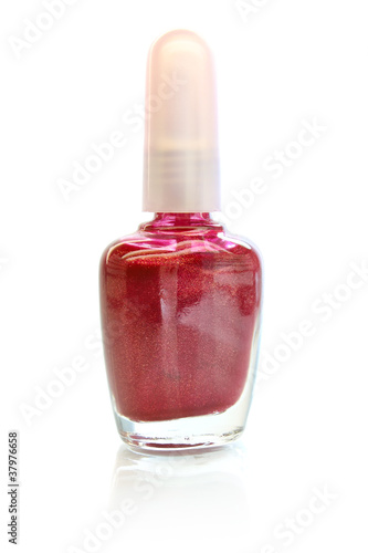 nail enamel isolated on white background