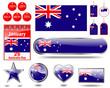 Australia Day icons.