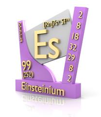 Einsteinium form Periodic Table of Elements - V2