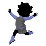 Little African American Go Go Dancer Girl Illustration
