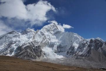 Everest  mountain peaks view from Kala Pattar, Nepal