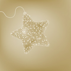 Elegant Christmas star postcard. EPS 8