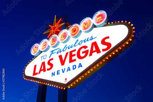Foto op Plexiglas Las Vegas Welcome to Fabulous Las Vegas sign
