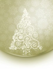 Christmas tree illustration on elegant. EPS 8