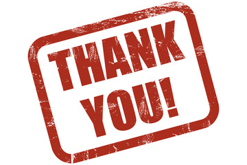 Grunge Stempel rot THANK YOU!