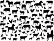 Big collection of farm animals - vector