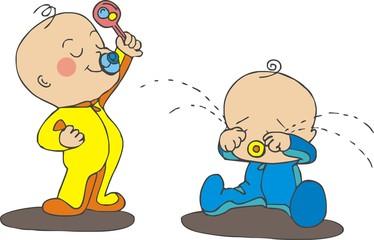 arguing babies