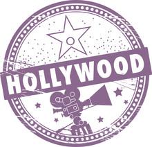 Timbre avec le nom de Hollywood écrit à l'intérieur du timbre