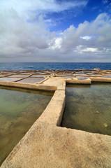 Old salt evaporation ponds, Malta island