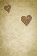 Vintage Textured Paper With Heart