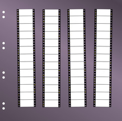 contact sheet 35 mm widescreen movie filmstrip, free space for p