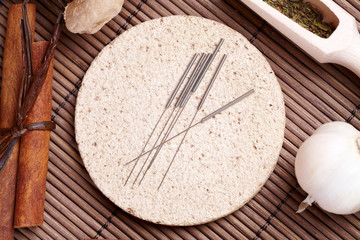 Acupuncture needles and TCM herbs