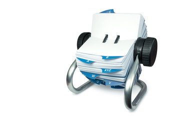 Rolodex with clipping path