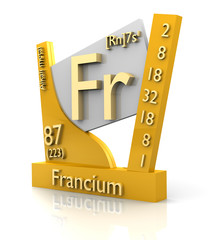 Francium form Periodic Table of Elements - V2