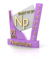 Neptunium form Periodic Table of Elements - V2