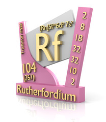 Rutherfordium form Periodic Table of Elements - V2