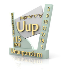 Ununpentium form Periodic Table of Elements - V2