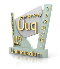 Ununquadrium form Periodic Table of Elements - V2