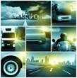 Fototapeten,straßenverkehr,collage,autos,motorrad