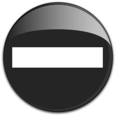 Button Durchfahrt verboten in schwarz