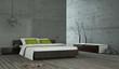 Wohndesign - Schlafzimmer Betonwand