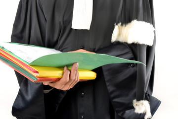 Justice - Dossier dans les mains d'un avocat