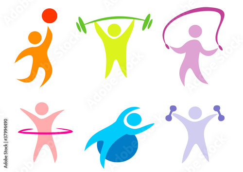 fitness, sport collection of icons