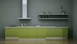 Küchendesign - Küche grau grün