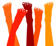 Healthy feet vector illustration.