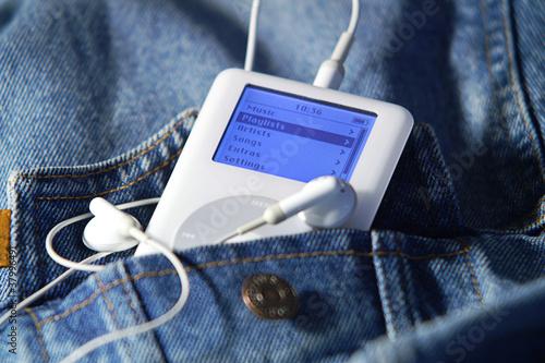 Leinwandbild Motiv MP3 player
