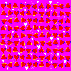Love Waves Background  (motion illusion Valentine)