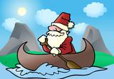 santa adventure boat poster