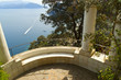 Beautiful terrace overlooking the bay of Naples in Capri Italy