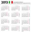 Calendario 2013 ITA mensile festività+settimane+lune
