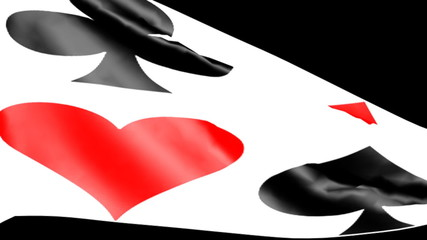 Bandiera semi carte da gioco - cuori quadri fiori picche