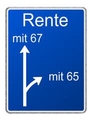 Autobahnschild Rente
