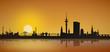 Hamburg Skyline Sonnenaufgang