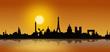 Paris Skyline Sonnenaufgang