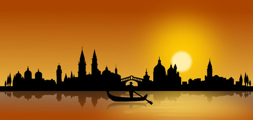 Venedig Skyline Sonnenuntergang