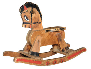 Antique Wood Rocking Horse