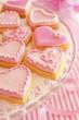 ピンクのハートクッキー