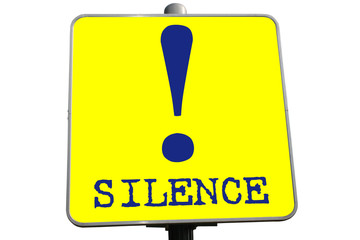 SILENCE !   Halte au bruit !