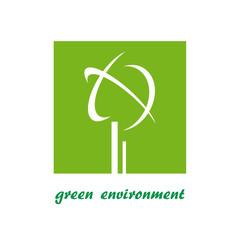 Logo green environment # Vector
